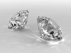 Diamonds rendered with Mental Ray in 3D Studio MAX